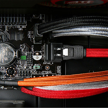 Avis BitFenix Alchemy Blue - Câble SATA gainé 75 cm (coloris bleu)
