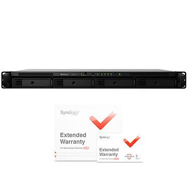 """Synology RX418 avec Synology EW201 Boîtier d'extension 4 baies 3,5""""/2,5"""" SATA pour serveur NAS Synology RackStation RS818(RP)+, RS815(RP)+, RS816 et RS815 et extension de garantie de 2 ans"""