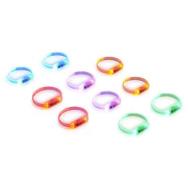 Hercules LED Wristbands Pack Pack de 10 bracelets LED interactifs (5 coloris)