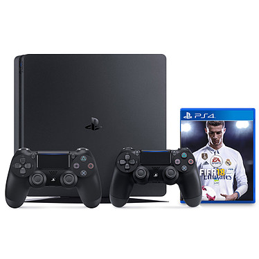 Sony PlayStation 4 Slim (500 Go) + FIFA 18 + DualShock 4