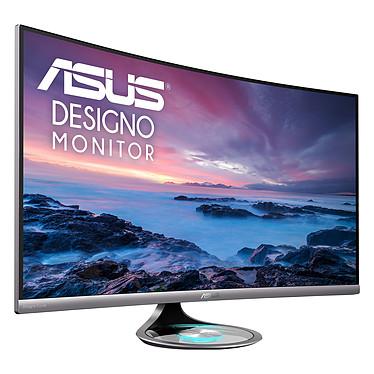 """ASUS 32"""" LED - Designo Curve MX32VQ 2560 x 1440 pixels - 4 ms (gris à gris) - Format large 16/9 - Dalle VA incurvée - DisplayPort - HDMI - Argent/Noir (garantie constructeur 3 ans)"""