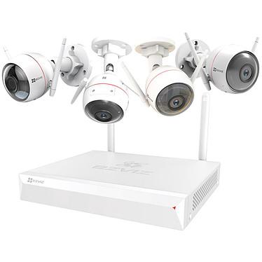 EZVIZ ezWireless Kit - Vault Plus 8 canaux +  4 caméras IP ezGuard Plus EZVIZ Vault Plus X5C-8 NVR à 8 canaux Wi-Fi + 4 caméras IP Wi-FI ezGuard Plus