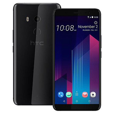 "HTC U11+ Noir Céramique Smartphone 4G-LTE Advanced IP68 Dual SIM - Snapdragon 835 8-Core 2.45 GHz - RAM 6 Go - Ecran tactile 6"" 1440 x 2880 - 128 Go - NFC/Bluetooth 5.0 - 3930 mAh - Android 8.0"