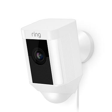 Ring Spotlight Cam Wired Blanc Caméra de surveillance HD filaire (Wi-Fi)