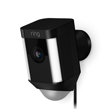 Ring Spotlight Cam Wired Noir Caméra de surveillance HD filaire (Wi-Fi)