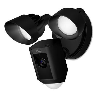 Ring Floodlight Cam Noir Caméra de surveillance HD sans fil avec détecteur de mouvements, projecteurs, sirène et un système audio bidirectionnel intégrés (Wi-Fi)
