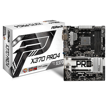 ASRock X370 Pro4 Carte mère ATX Socket AM4 AMD X370 - 4x DDR4 - SATA 6Gb/s + M.2 + U.2 - USB 3.0 - 2x PCI-Express 3.0 16x