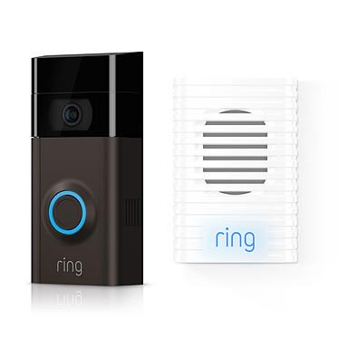Ring Video Doorbell 2 + Ring Chime Sonnette vidéo HD connectée avec microphone et haut-parleurs intégrés avec Wi-Fi + Alerte intérieure pour Ring