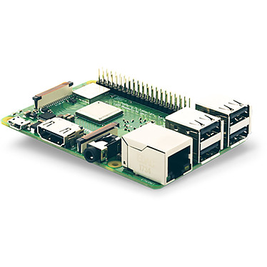 Raspberry Pi 3 Model B+ Carte mère ultra-compacte avec processeur ARM Cortex-A53 Quad-Core 1.4 GHz - RAM 1 Go - HDMI - 4x USB 2.0 - Gigabit Ethernet - Wi-Fi AC Dual Band - Bluetooth 4.2