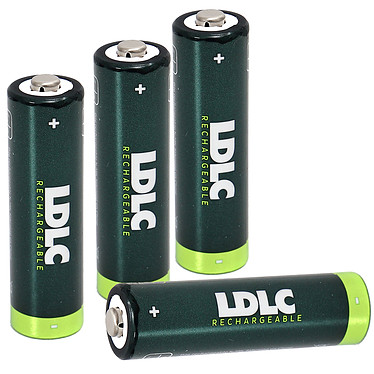 LDLC+ NiMH AA  - 4 piles rechargeables AA (HR6) 2000 mAh Lot de 4 piles rechargeables NiMH