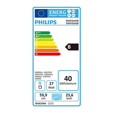 """Avis Philips 23.6"""" LED - 243V5LHSB"""
