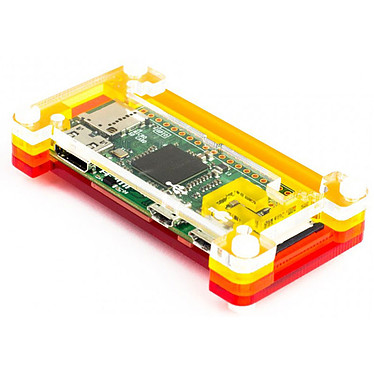 Pimoroni Pibow Zero 1.3 Boîtier en acrylique coulé (compatible Raspberry Pi Zero v 1.3)