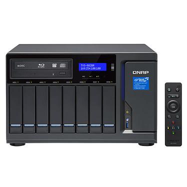 """QNAP TVS-882BR-i7-32G Serveur NAS 8 baies 3.5""""/2.5"""" avec processeur Quad-Core Intel Core i7-7700 3.6 GHz - RAM 32 Go (sans disque dur)"""