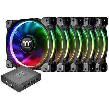 Thermaltake Riing Plus 12 RGB x 5 Pack de 5 ventilateurs de boîtier 120 mm LED RGB 16.8 millions de couleurs + boitier de contrôle