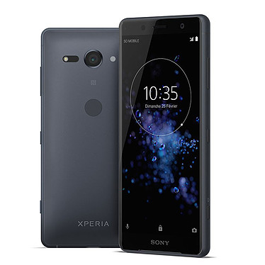 "Sony Xperia XZ2 Compact Dual SIM Noir Smartphone 4G-LTE IP68 Dual SIM - Snapdragon 845 Octo-Core 2.7 GHz - RAM 4 Go - Ecran tactile 5"" 1080 x 2160 - 64 Go - NFC/Bluetooth 5.0 - 2870 mAh - Android 8.0"