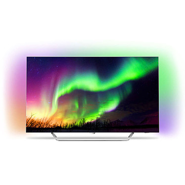 "Philips 65OLED873 Téléviseur OLED 4K 65"" (165 cm) 16/9 - 3840 x 2160 pixels - Ultra HD 2160p - HDR - Wi-Fi - Android TV - 4100 Hz (dalle native 100 Hz)"