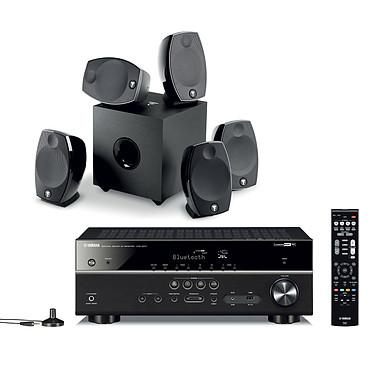Yamaha HTR-4071 Noir + Focal Sib Evo 5.1 Ampli-tuner Home Cinéma 5.1 3D-Ready avec HDMI 2.0, HDCP 2.2, Ultra HD 4K, Wi-Fi, Bluetooth, DLNA, AirPlay et MusicCast + Pack d'enceintes 5.1 avec caisson de basses
