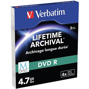 Verbatim MDISC DVD R 4.7 Go (par 3, boitiers Slim) Pack de 3 DVD R / MDISC 4.7 Go