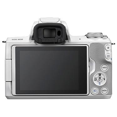 Canon EOS M50 Blanc + EF-M 15-45 mm IS STM Argent pas cher