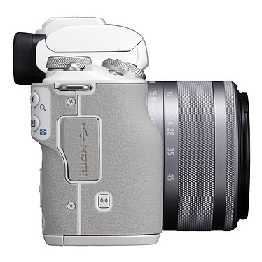 Avis Canon EOS M50 Blanc + EF-M 15-45 mm IS STM Argent