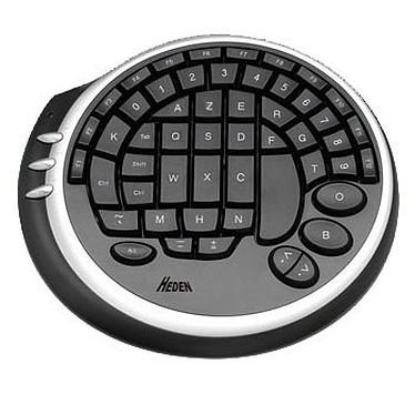 Heden Gaming Pad (noir) Clavier gamer - format compact rond - 55 touches à disposition ergonomique - USB