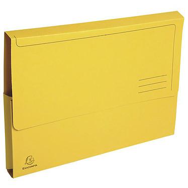 Exacompta Forever Chemises Poche Jaune x 50 Lot de 50 chemises Forever en carte 100% recyclée 290g format 24.5 x 32.5 cm jaune
