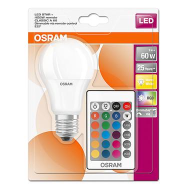 Acheter OSRAM Ampoule LED Retrofit RGBW standard Télécommande E27 9W (60W) A+