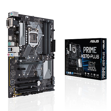 ASUS PRIME H370-PLUS Carte mère ATX Socket 1151 Intel H370 Express - 4x DDR4 - SATA 6Gb/s + M.2 - USB 3.1 - 2x PCI-Express 3.0 16x