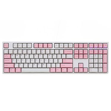 Ducky Channel One (coloris rose - Cherry MX Blue)
