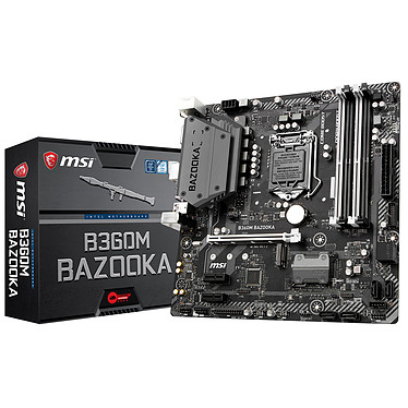 MSI B360M BAZOOKA Placa base Micro ATX Socket 1151 Intel B360 Express - 4x DDR4 - SATA 6 Gbps + M.2 - USB 3.0 - 1x PCI-Express 3.0 16x
