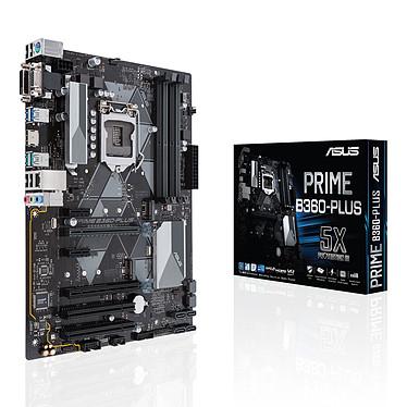 ASUS PRIME B360-PLUS Carte mère ATX Socket 1151 Intel B360 Express - 4x DDR4 - SATA 6Gb/s + M.2 - USB 3.1 - 2x PCI-Express 3.0 16x