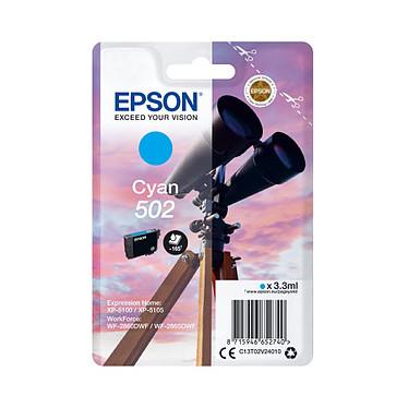 Epson Jumelles 502 Cyan Cartouche d'encre Cyan (3.3 ml / 165 pages)