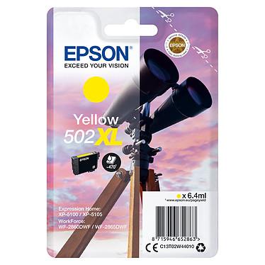 Epson Jumelles 502XL Jaune Cartouche d'encre haute capacité Jaune (6.4 ml / 470 pages)
