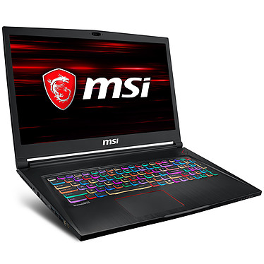 "MSI GS73 8RD-002FR Stealth Intel Core i7-8750H 8 Go SSD 256 Go + HDD 1 To 17.3"" LED Full HD 120 Hz NVIDIA GeForce GTX 1050 Ti 4 Go Wi-Fi AC/Bluetooth Webcam Windows 10 Famille 64 bits (garantie constructeur 2 ans)"
