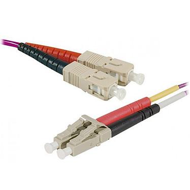 Puente óptico dúplex multimodo 2 mm OM4 SC-UPC/LC-UPC (2 metros) Cable de fibra óptica de perfil bajo y certificado como LSZH
