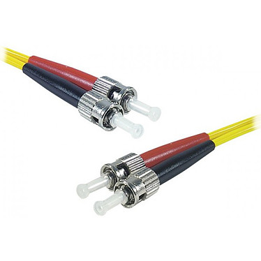 Jarretière optique duplex monomode 2mm OS2 ST-UPC/ST-UPC (1 mètre) Câble fibre optique à faible encombrement et certifié LSZH