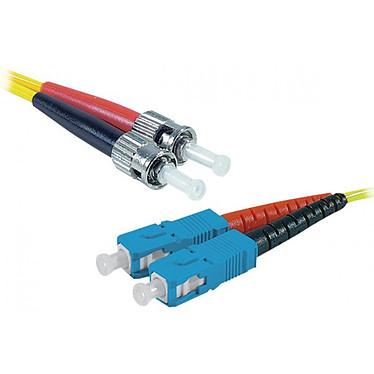 Jarretière optique duplex monomode 2mm OS2 ST-UPC/SC-UPC (5 mètres) Câble fibre optique à faible encombrement et certifié LSZH