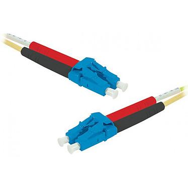 Jarretière optique duplex monomode 2mm OS2 LC-UPC/LC-UPC (1 mètre) Câble fibre optique à faible encombrement et certifié LSZH