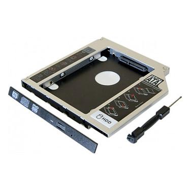 """Adaptateur HDD/SSD 2.5"""" pour ordinateur portable (9.5mm)"""