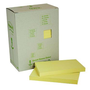 Post-it Bloc tour de 16 blocs de 100 feuillets 76 x 127 mm Recyclés