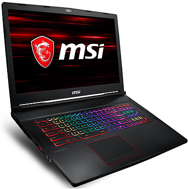 "MSI GE73 8RF-030XFR Raider RGB Intel Core i7-8750H 16 Go SSD 256 Go + HDD 1 To 17.3"" LED Full HD 120 Hz NVIDIA GeForce GTX 1070 8 Go Wi-Fi AC/Bluetooth Webcam FreeDOS (garantie constructeur 2 ans)"