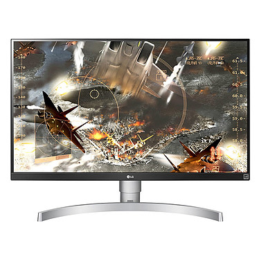 "LG 27"" LED 27UK650-W 3840 x 2160 pixels - 5 ms - Format large 16/9 - Dalle IPS - HDR - FreeSync - HDMI - Display Port - Noir/Argent"