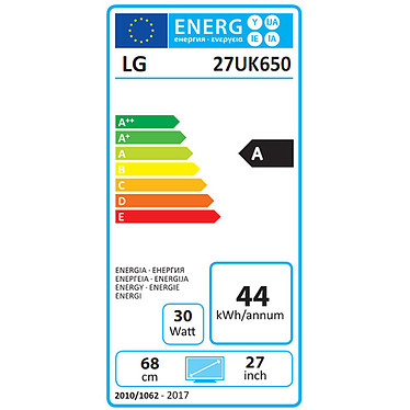 "LG 27"" LED 27UK650-W pas cher"