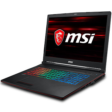 "MSI GP73 8RE-033FR Leopard Intel Core i7-8750H 8 Go SSD 256 Go + HDD 1 To 17.3"" LED Full HD 120 Hz NVIDIA GeForce GTX 1060 6 Go Wi-Fi AC/Bluetooth Webcam Windows 10 Famille 64 bits (garantie constructeur 2 ans)"