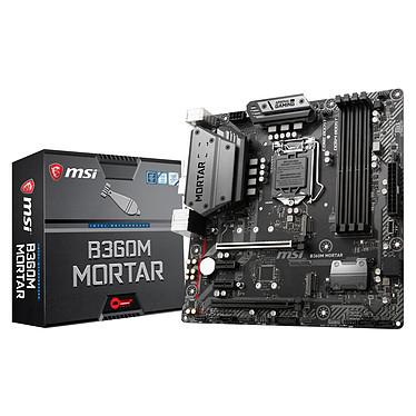 MSI B360M MORTAR Carte mère Micro ATX Socket 1151 Intel B360 Express - 4x DDR4 - SATA 6Gb/s + M.2 - USB 3.1 - 2x PCI-Express 3.0 16x