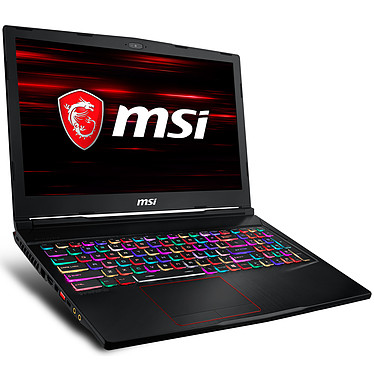 "MSI GE63 8SG-076FR Raider RGB Intel Core i7-8750H 16 Go SSD 256 Go + HDD 1 To 15.6"" LED Full HD 144 Hz NVIDIA GeForce RTX 2080 8 Go Wi-Fi AC/Bluetooth Webcam Windows 10 Famille 64 bits (garantie constructeur 2 ans)"