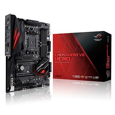 ASUS ROG CROSSHAIR VII HERO Carte mère ATX Socket AM4 AMD X470 - 4x DDR4 - SATA 6Gb/s + M.2 - USB 3.1 - 2x PCI-Express 3.0 16x + 1x PCI-Express 2.0 16x