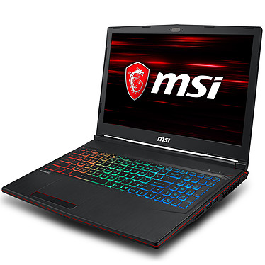 "MSI GP63 8RE-030FR Leopard Intel Core i7-8750H 8 Go SSD 256 Go + HDD 1 To 15.6"" LED Full HD 120 Hz NVIDIA GeForce GTX 1060 6 Go Wi-Fi AC/Bluetooth Webcam Windows 10 Famille 64 bits (garantie constructeur 2 ans)"