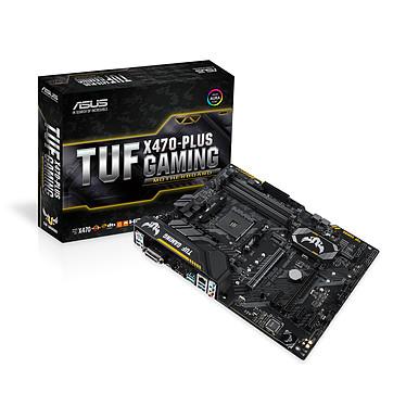 ASUS TUF X470-PLUS GAMING Carte mère ATX Socket AM4 AMD X470 - 4x DDR4 - SATA 6Gb/s + M.2 - USB 3.1 - 1x PCI-Express 3.0 16x + 1x PCI-Express 2.0 16x