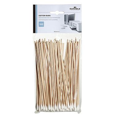 Durable Cotton  Buds Pack de 100 bâtonnets pour nettoyage des appareils électroniques